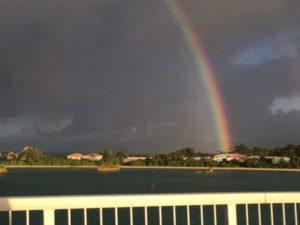 古宇利大橋からの虹