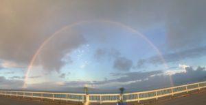 古宇利大橋からの虹180度