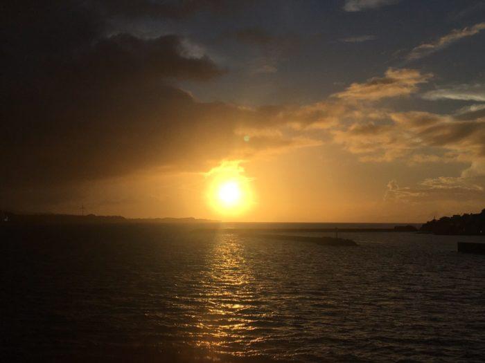 古宇利大橋からの夕日2